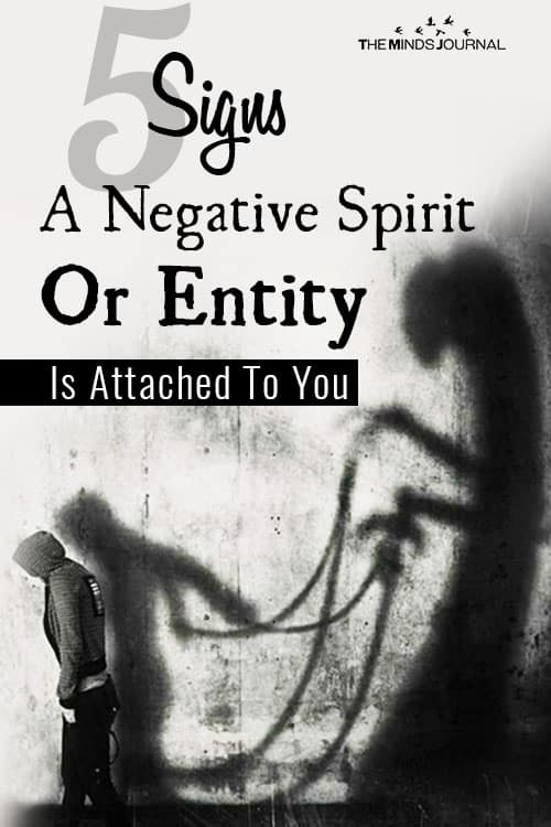 Signs Negative Spirit Attached To You pin