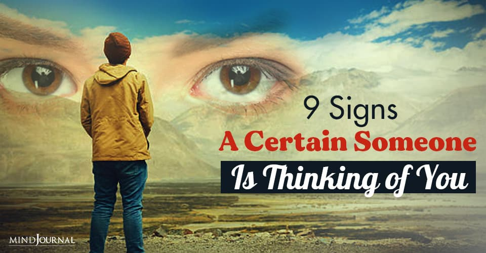 Signs Someone Thinking of You