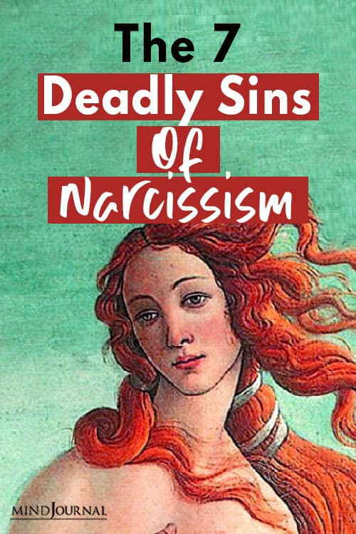 The Deadly Sins Of Narcissism Pin