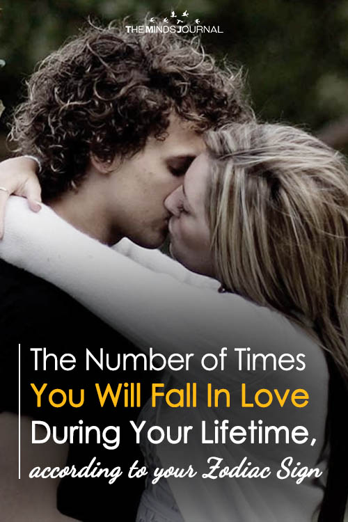 The Number of Times You Will Fall In Love During Your Lifetime, according to your Zodiac Sign