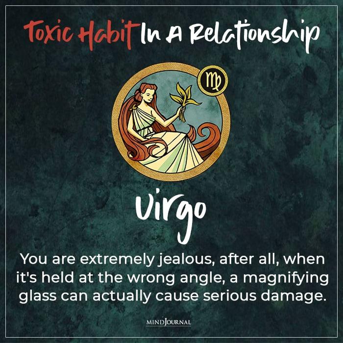 Toxic Habit In Relationship virgo