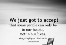 We Just Got to Accept