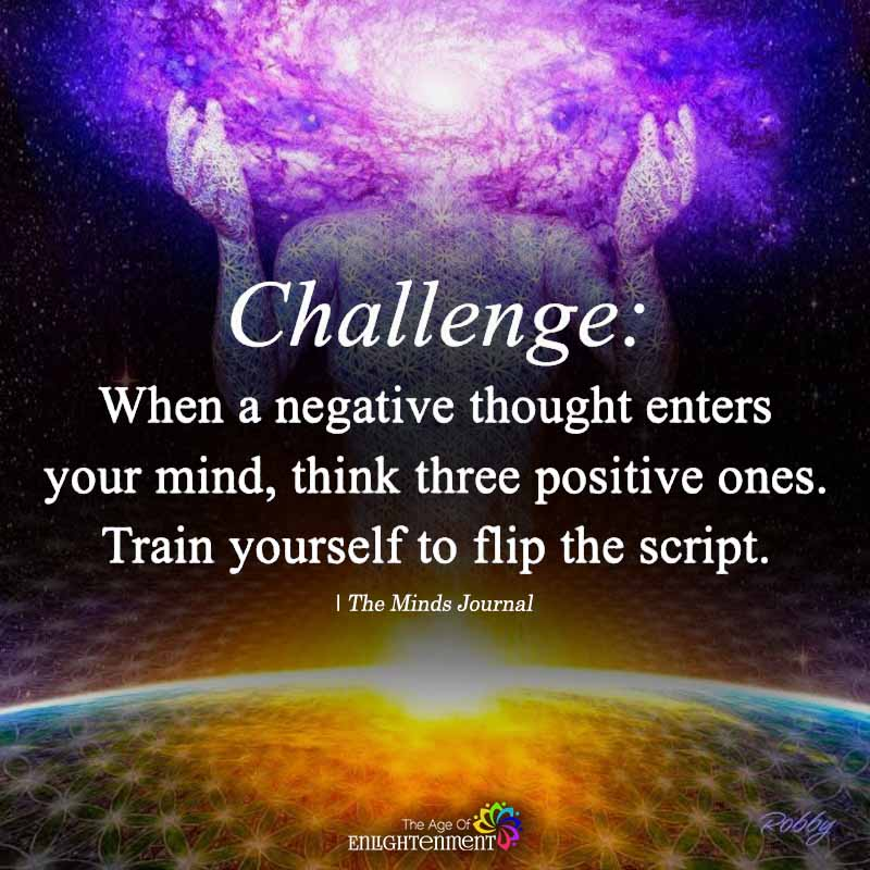 Challenge: When A Negative Thought Enters Your Mind