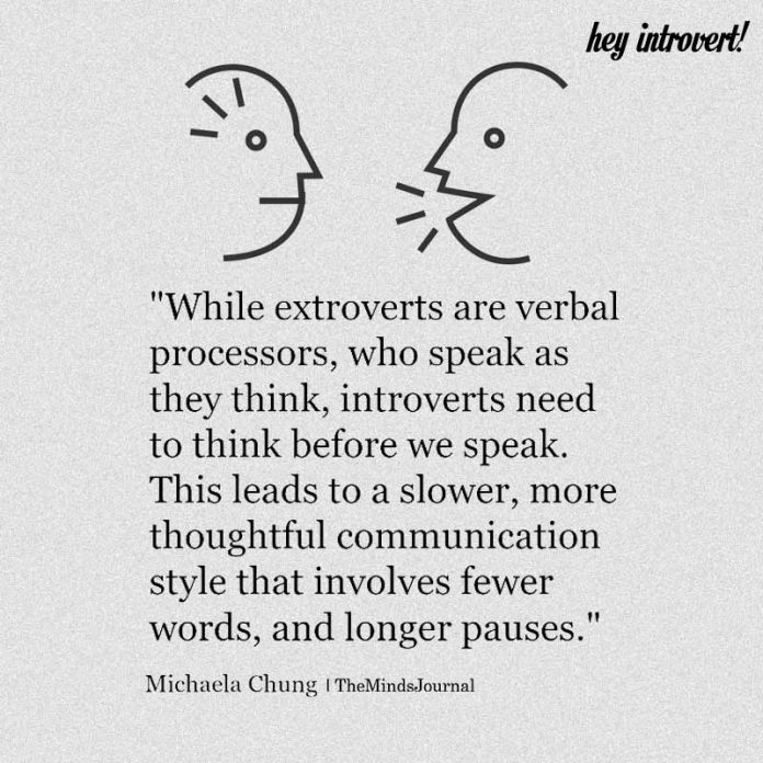 While Extroverts Are Processors