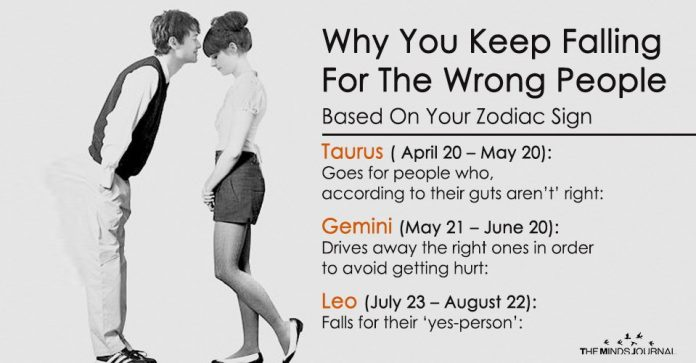 Why You Keep Falling For The Wrong People Based On Your