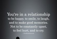 You're In A Relationship To Be Happy