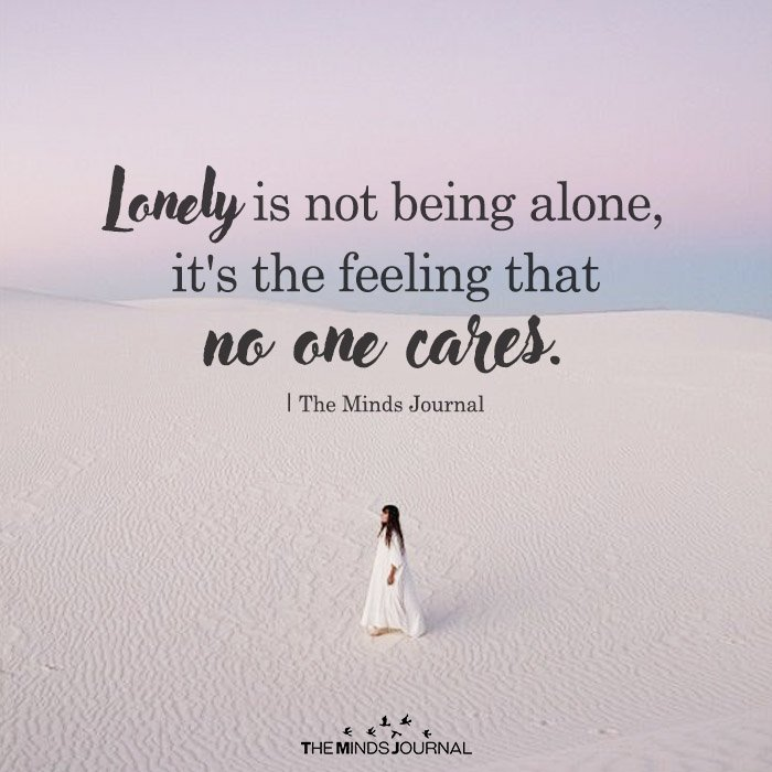 lonely Is Not Being Alone