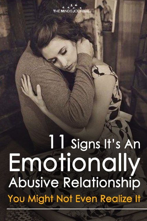 11 Signs It's An Emotionally Abusive Relationship And You Might Not Even Realize