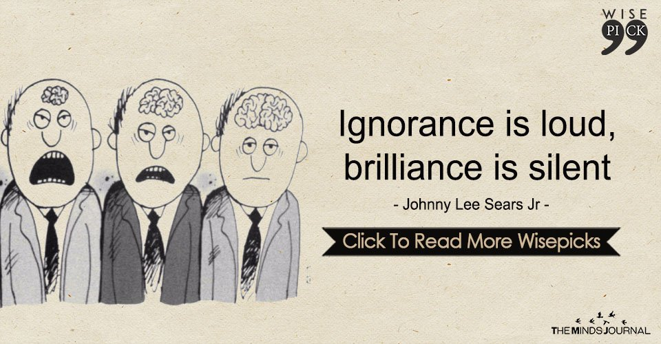 Ignorance Is Loud, Brilliance Is Silent