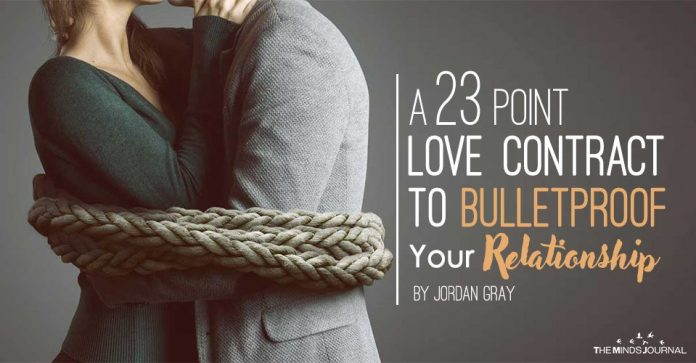 A 23 Point Love Contract To Bulletproof Your Relationship