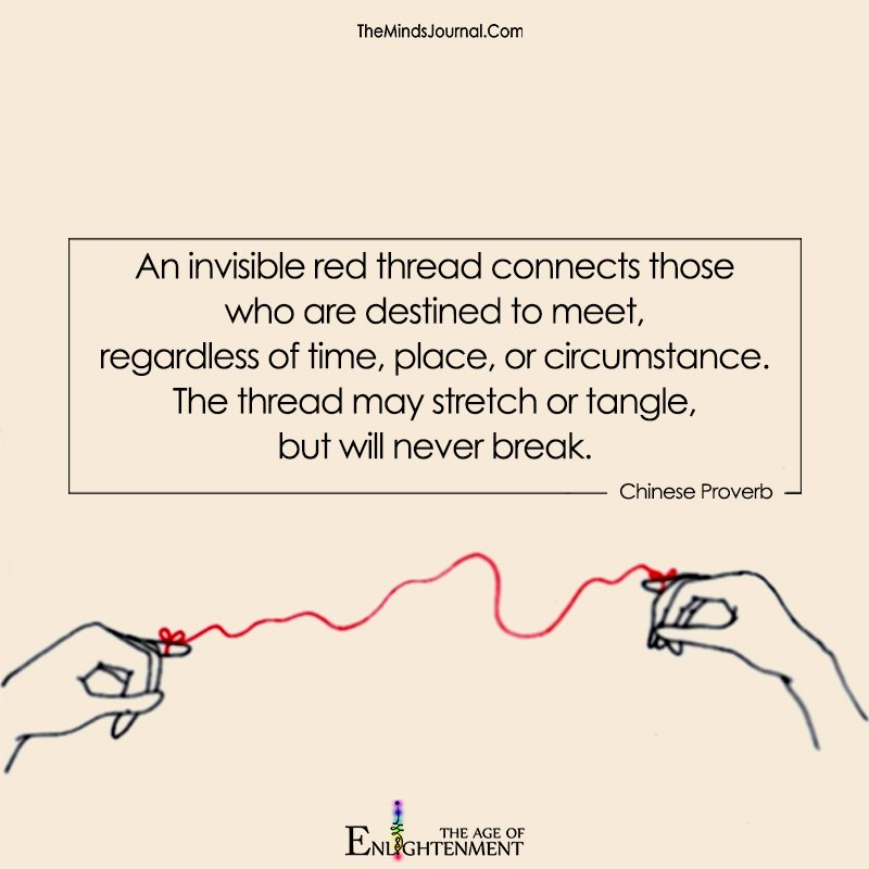 An Invisible Red Thread Connects Those Who Are Destined To Meet