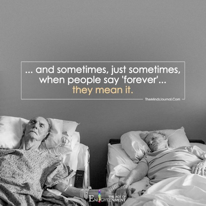...And Sometimes, Just Sometimes, When People Say 'Forever'