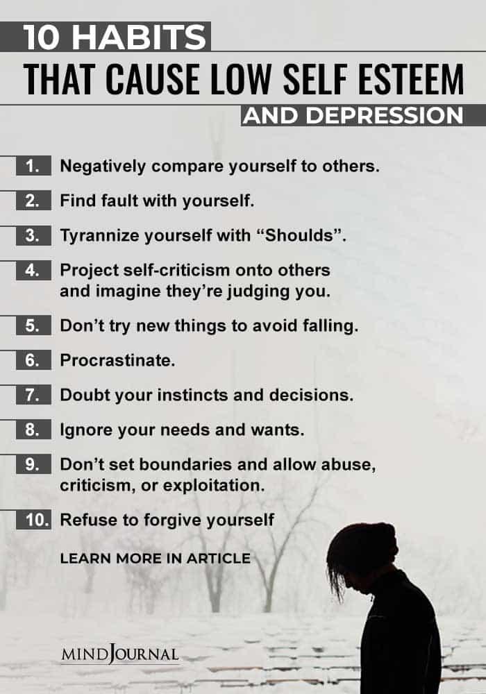 Habits Cause Low Self Esteem Depression info