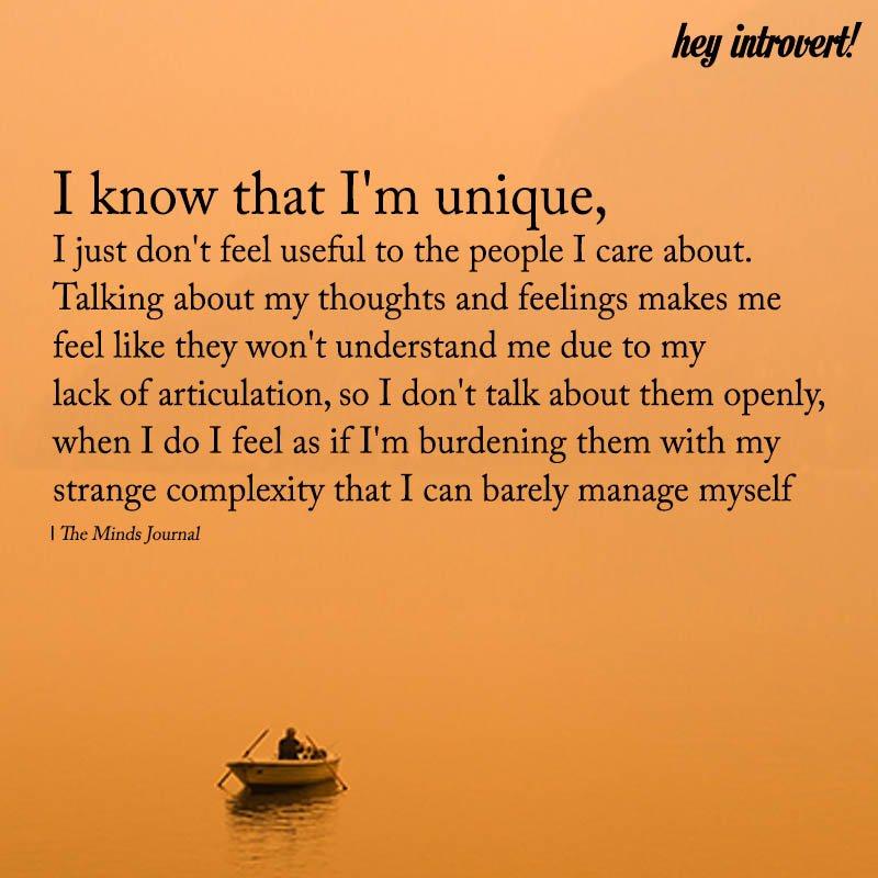 I Know That I'm Unique
