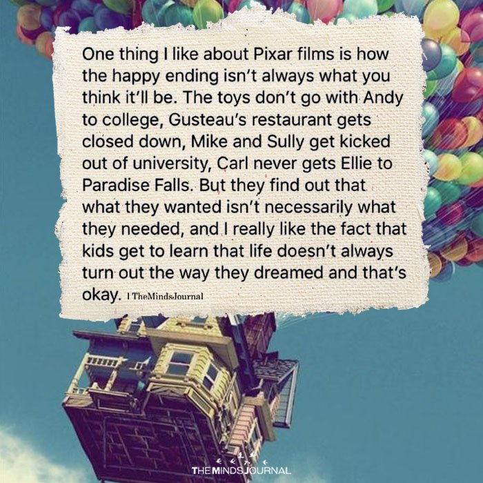 One Thing I Like About Pixar Films