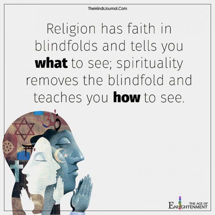 Religion Has Faith In Blindfolds