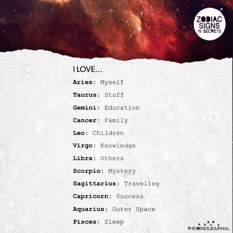 Signs Love the Most