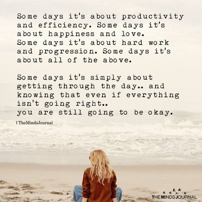 Some Days it's About Productivity And Efficiency