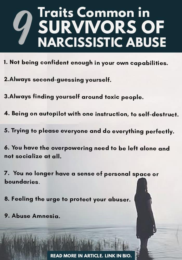 Traits Common Amongst Survivors Narcissistic Abuse Info