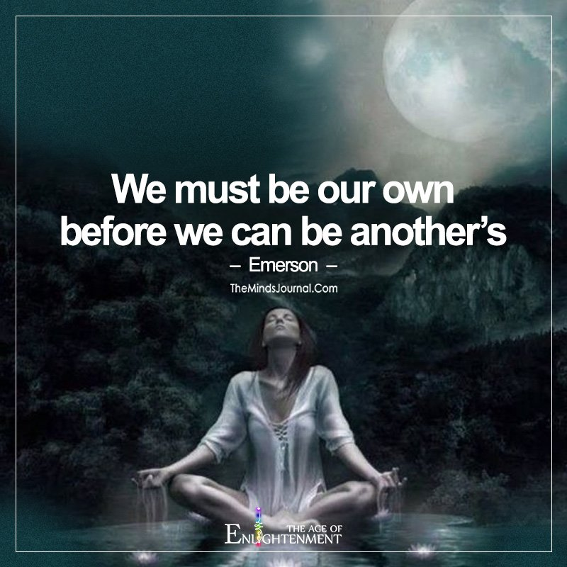 We Must Be Our Own