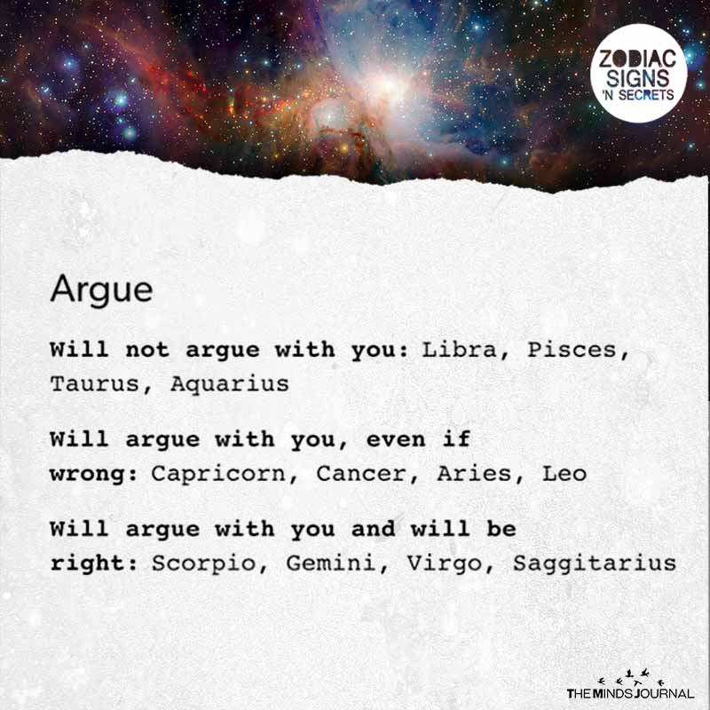 When Do The Signs Argue