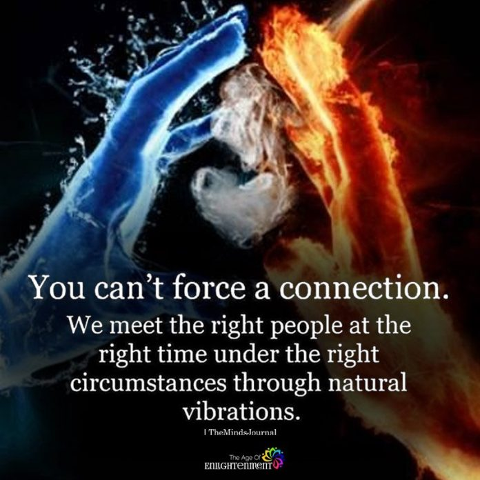 You Can't Force A Connection