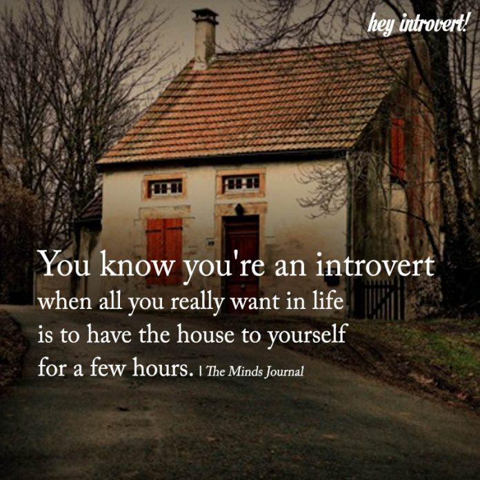 You Know You're An Introvert