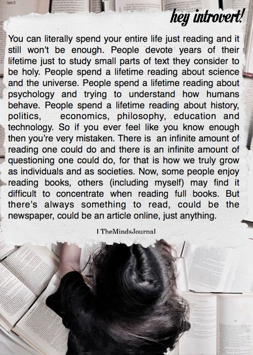 You can literally Spend Your Entire Life Just Reading