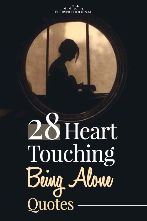 heart touching being alone pin