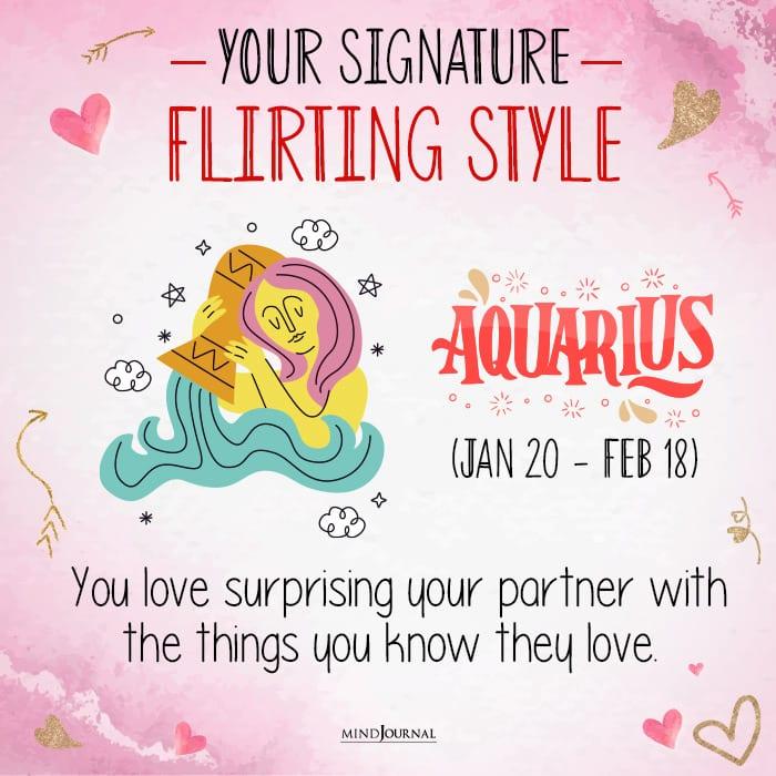 your signature flirting style aqua