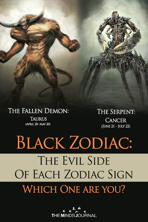 Black Zodiac The Evil Side Of Each Zodiac Sign
