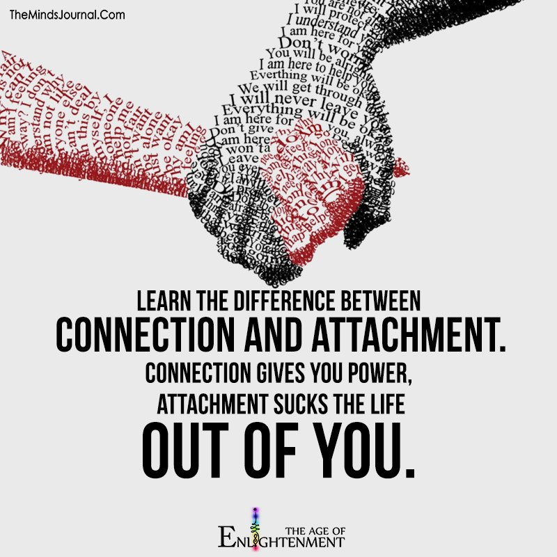 Learn the Difference Between Connection And Attachment