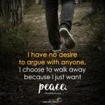 I Have No Desire To Argue With Anyone