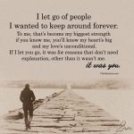 I Let Go Of People