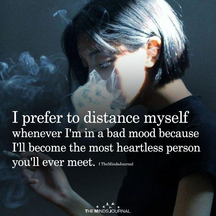 I Prefer To Distance Myself