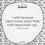 I Write Because I Don't Know What I Think