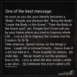One Of The Best Message