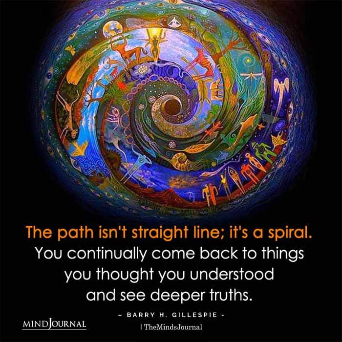 Path Isnt Straight Line Its Spiral