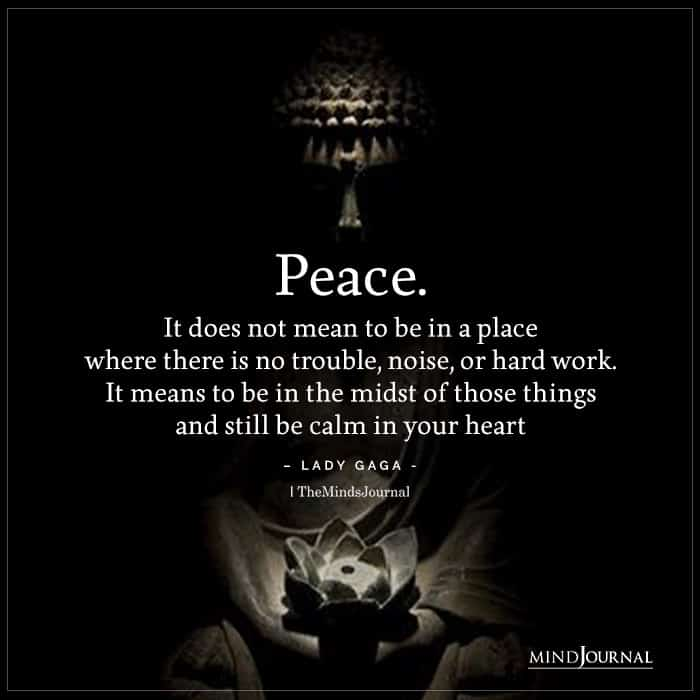 Peace Place Where There No Trouble