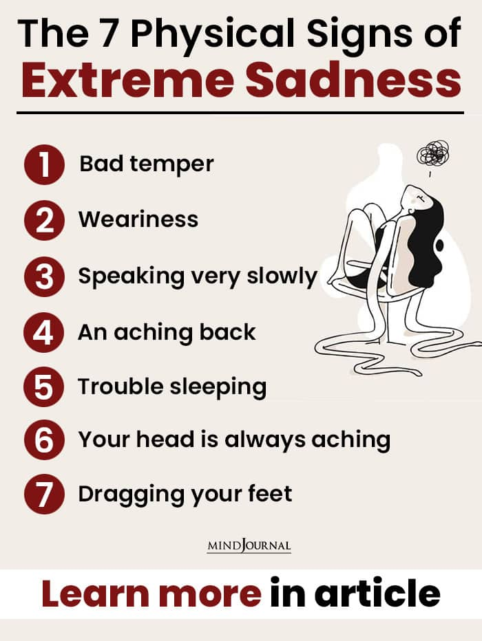 Physical Signs Extreme Sadness infographic