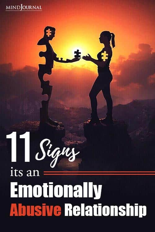 Signs Emotionally Abusive Relationship pin