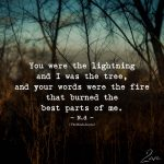 You Were The Lightning And I Was The Tree