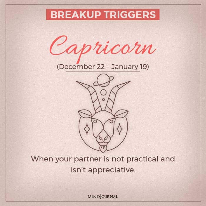 breakup capricorn
