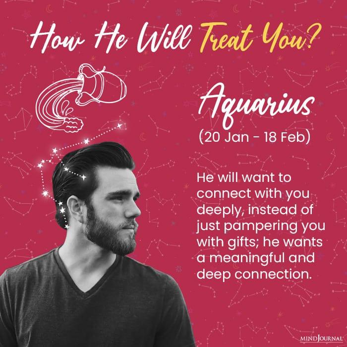 how a man will treat you aqu