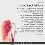 Motivational Self love