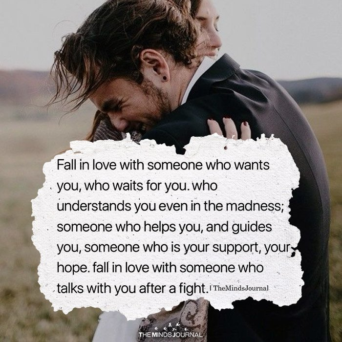 Fall In Love Who Someone Who Wants You