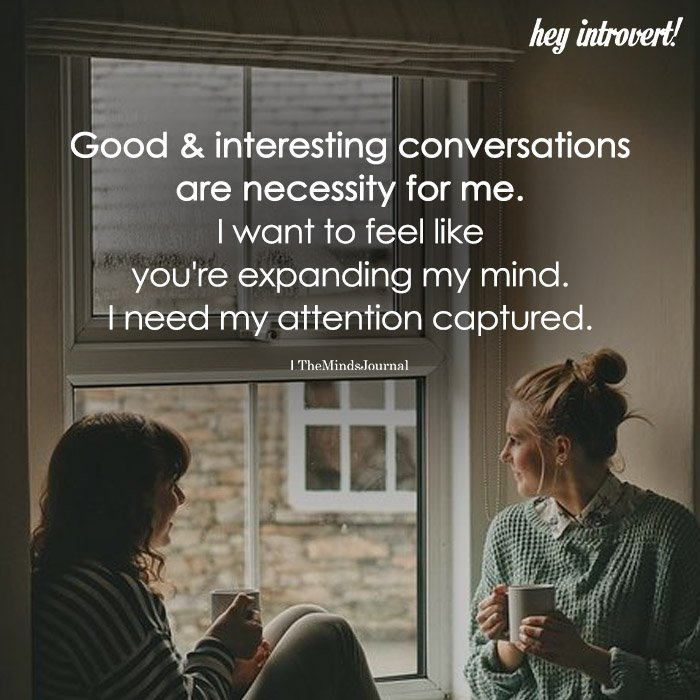 Good And Interesting Conversations
