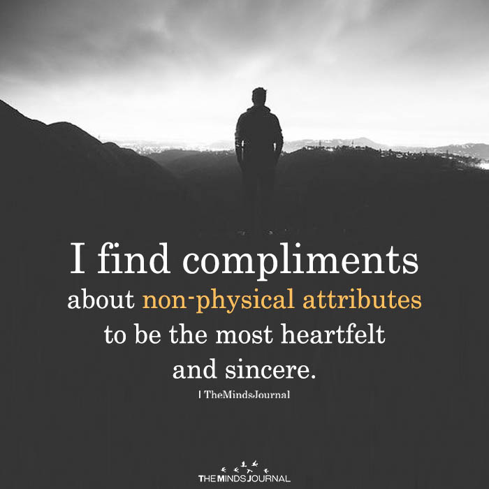 I Find compliments About Non-Physical Attributes