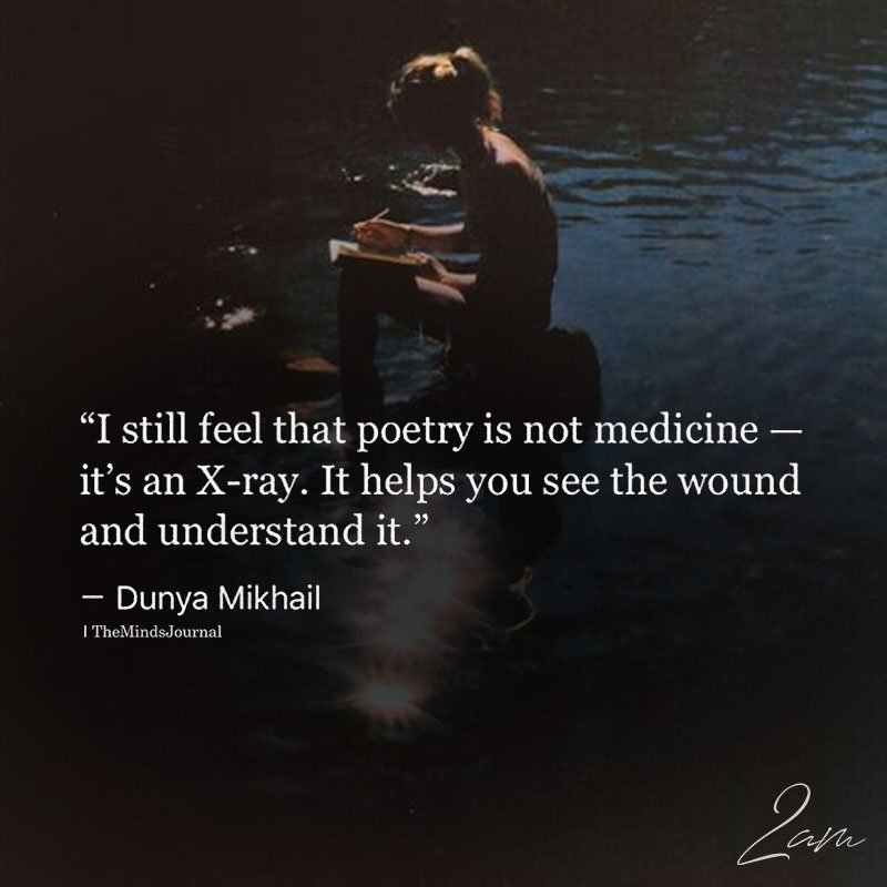 I Still Feel That Poetry Is Not Medicine