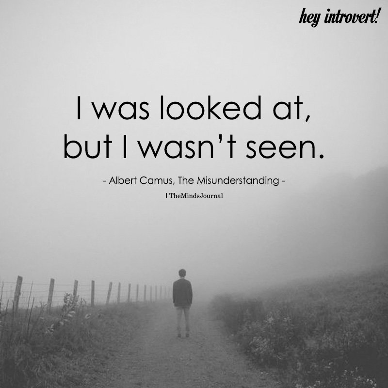 I Was Looked At, But I Wasn't Seen